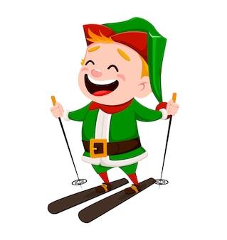 Wesołych świąt. zabawny pomocnik świętego mikołaja