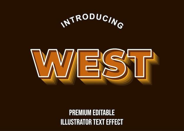 West - 3d brązowy styl czcionki tekstu
