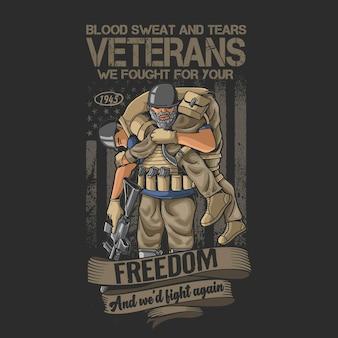 Weteranów żołnierza honorowego ilustracji