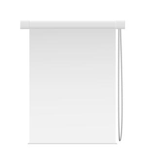 Wewnątrz ślepy wektor okna pokoju na białym tle