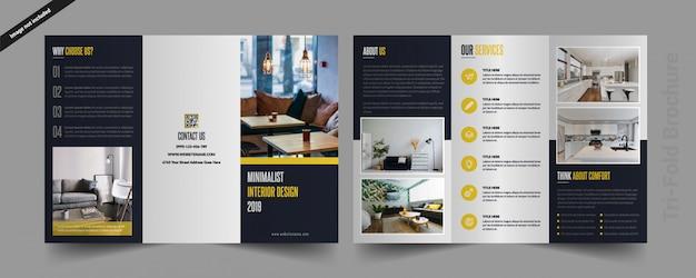 Wewnętrzna broszura tri-fold