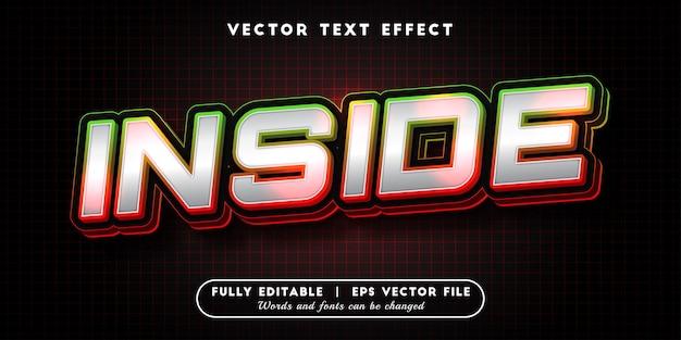 Wewnętrzny efekt tekstowy z edytowalnym stylem tekstu