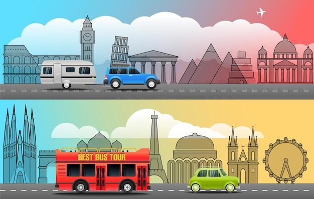 Weź pojęcie podróży wakacje. ilustracja wektorowa