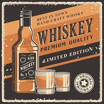 Whisky retro vintage signage