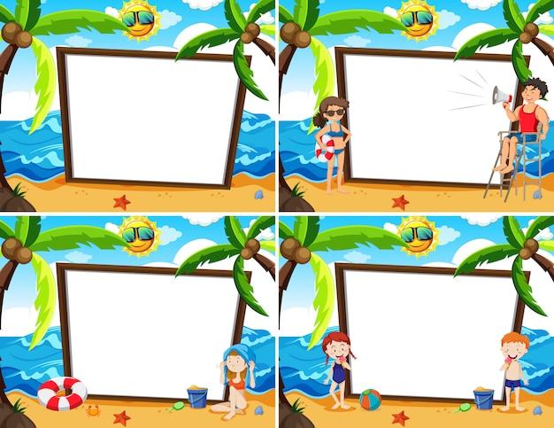 Whiteboard szablon summer beach theme