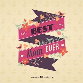 Wiadomość wstążką dzień rocznika matki
