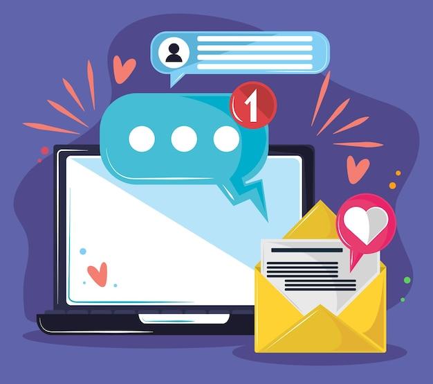 Wiadomości e-mail z laptopa