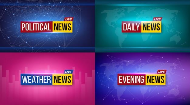Wiadomości emitowane codziennie w telewizji, wieczorem w tle.