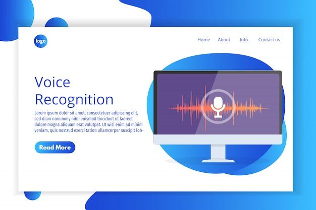 Wiadomości głosowe, izometryczna koncepcja rozpoznawania głosu. można użyć do banera internetowego, szablonu strony docelowej, infografiki.