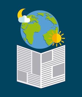 Wiadomości pogodowe projekt, wektorowa ilustraci eps10 grafika