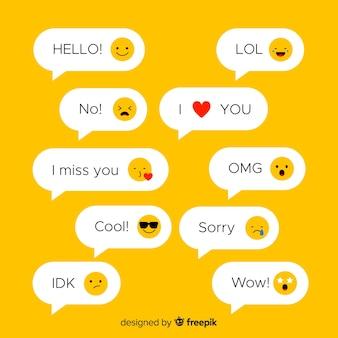 Wiadomości tekstowe z emoji