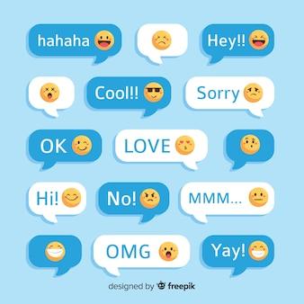 Wiadomości z reakcjami emotikonów