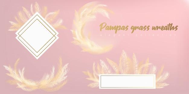 Wianek z białej pampasy