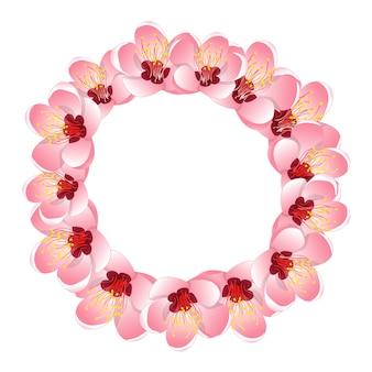 Wianek z kwiatów momo brzoskwini