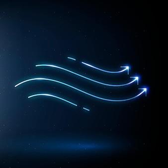 Wiatr ikona wektor symbol energii odnawialnej
