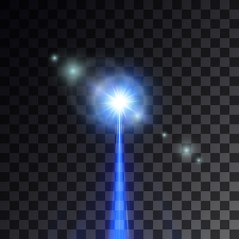 Wiązka niebieskiego lasera
