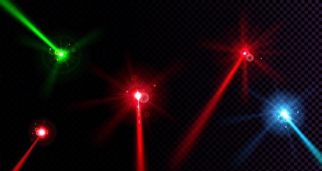 Wiązki laserowe ustawione na przezroczyste