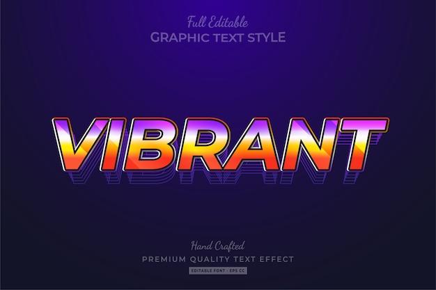 Wibrujący efekt edytowalnego stylu tekstu w stylu retro lat 80-tych