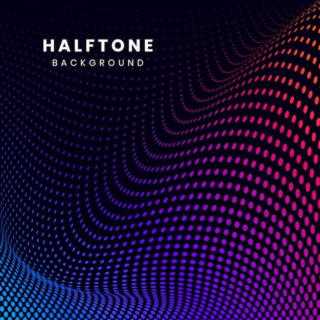 Wibrujący halftone na czarnym tło wektorze