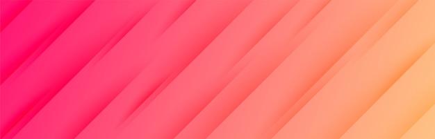 Wibrujący szeroki baner z ukośnymi paskami