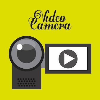 Wideo ikony projekt, wektorowa ilustraci eps10 grafika