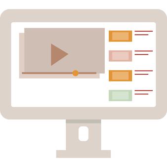 Wideo vlog ikona vloger kanał wektor strony internetowej