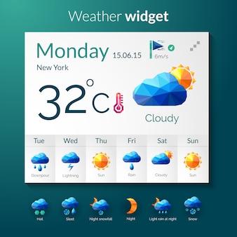 Widget pogody wielokąta