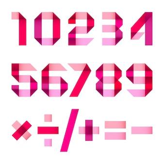 Widmowe litery złożone z papierowej wstążki