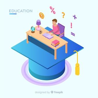Widok izometryczny koncepcji nowoczesnej edukacji