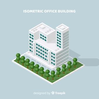 Widok izometryczny nowoczesny biurowiec
