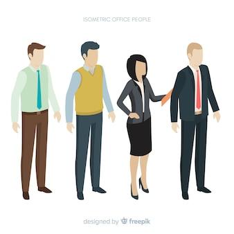 Widok izometryczny nowoczesnych ludzi biznesu