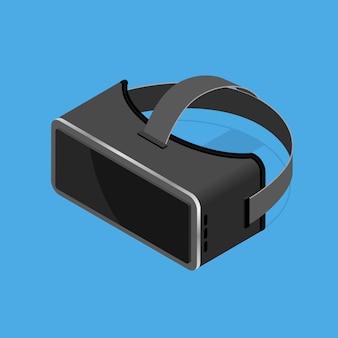 Widok izometryczny okularów rzeczywistości wirtualnej