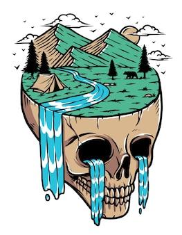 Widok na góry na wyspie czaszki