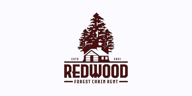 Widok na las z kabiną do wynajęcia domu wiejskiego logo