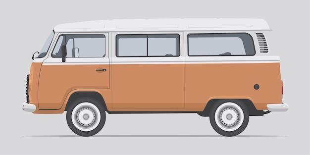 Widok z boku classic van car