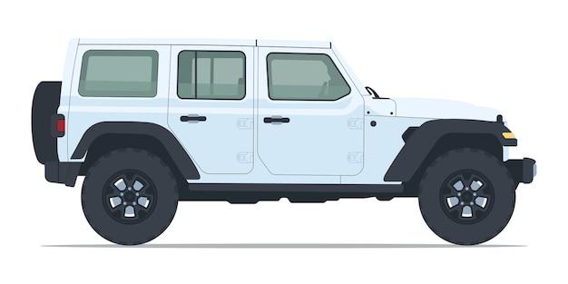 Widok z boku samochodu jeep