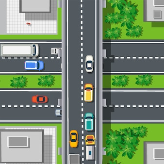 Widok z góry na autostradzie autostrady