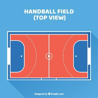 Widok z góry na boisko do piłki ręcznej