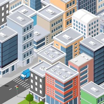 Widok z góry na panoramę miasta