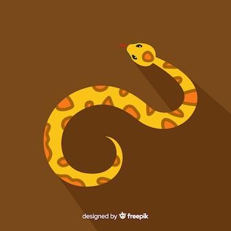 Widok z góry ręcznie rysowane tło węża