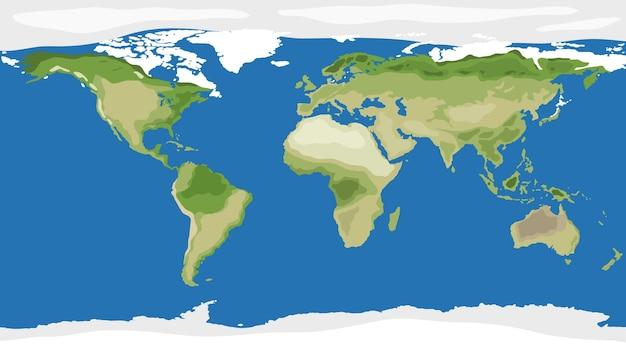 Widok z góry tła mapy świata