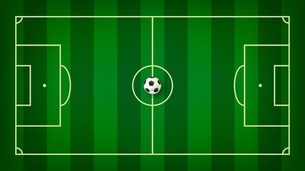 Widok z góry wektora tła boiska do piłki nożnej