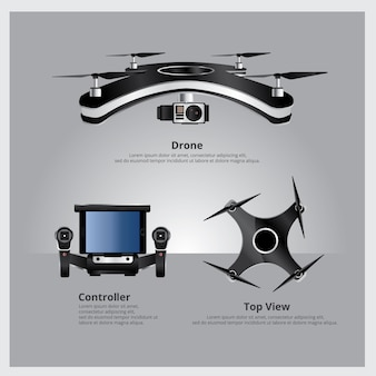 Widok z przodu i od góry drone