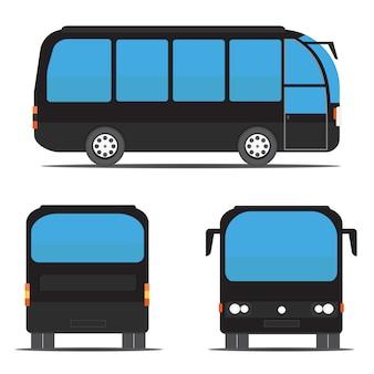 Widoki czarnego autobusu