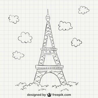 Wieża Eiffla rysowanie