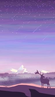 Wieczorny krajobraz