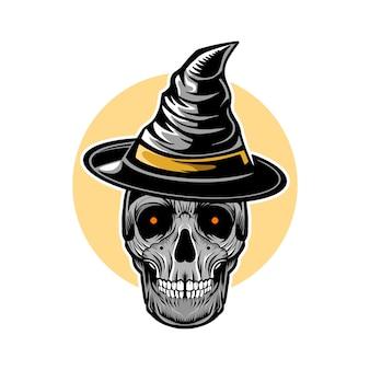 Wiedźma czaszki halloween