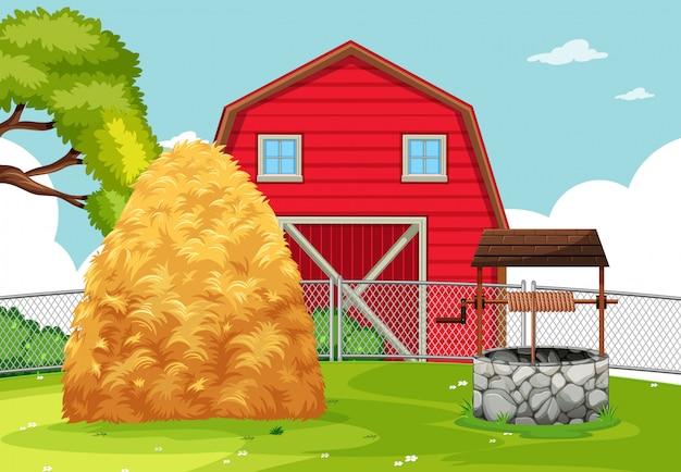Wiejski krajobraz rolniczy