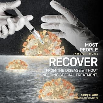 Większość ludzi odzyskuje fakt pandemii covid-19 dzięki reklamie społecznej who