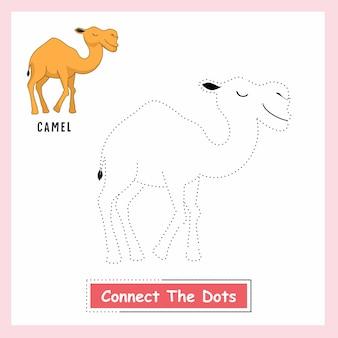 Wielbłąd połącz kropki